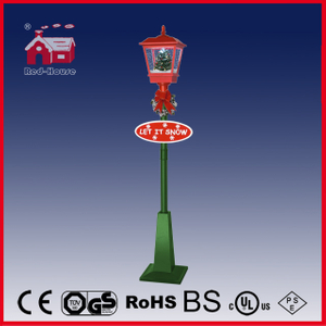 (LV180S-RG) Newest LED Decoration Christmas Vertical Street Lamp with Snow