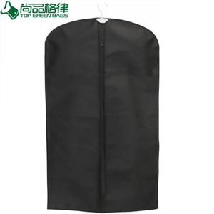 Zippered Uniform Non Woven Garment Bag with Pocket (TP-GB086)