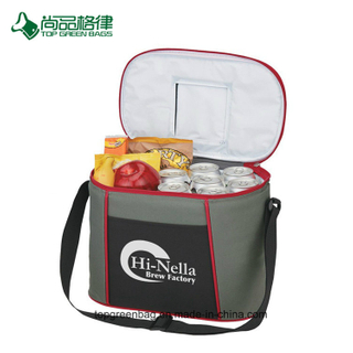 High Quality Polyester Front Pocket Top Compartment Zippered Cooler Bag