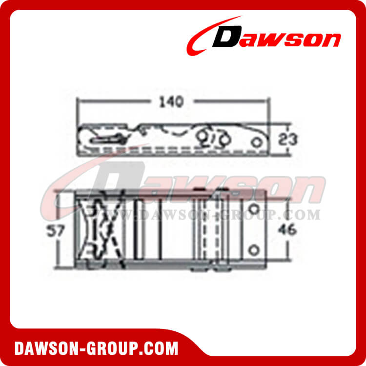 OBS5004 Stainless Steel AISI 304 Ratchet Buckle - Dawson Group
