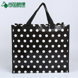 Wholesale Custom Printed Recycle PP Laminated Woven Tote Shopping Bags (TP-SP663)