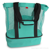 Large Polyster Mesh Beach Tote and Insulated Cooler Picnic Bag