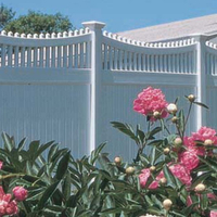 Privacy fence with top picket SU006