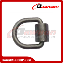 "D3001 MBS 12000lbs/5500kgs 1/2"" Forged lashing D Ring with Bracket"