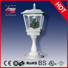 (LT27064S-W) Pure White Christmas Tree Decoration Lamp with LED and Snow