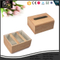 Wooden Grain PU leather Made Tissue Box With Velcro Sticker