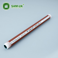 Three colors PPH threaded pipe for hot water supply