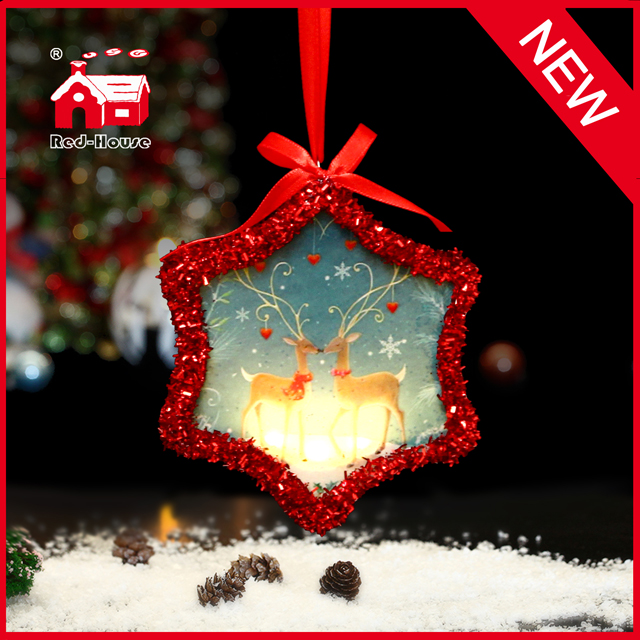 Hanging Lighting Snowflake Christmas Tree Decoration