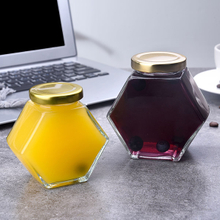 100ml Hexagonal Glass Jars