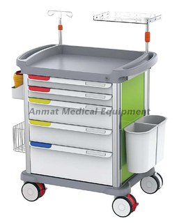 Luxurious ABS Emergency Trolley for Hospital Medicine Cart