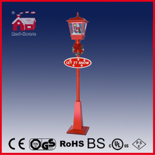 (LV180D-RR) Red Snowing Musical Lighting Christmas Street Lamp with Santa Claus