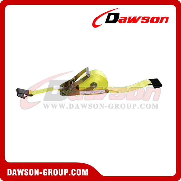 2'' x 27' Ratchet Strap with Flat Hooks - Self Contain Ratchet- china manufacturer supplier - Dawson Group
