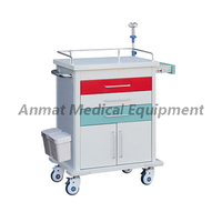 Multi-function Double Color Drawers Hospital Emergency Medical Trolley