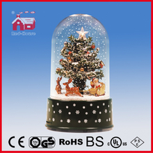 (18030AD) 2016 Fashional Snowing Christmas Crafts with Transparent Case