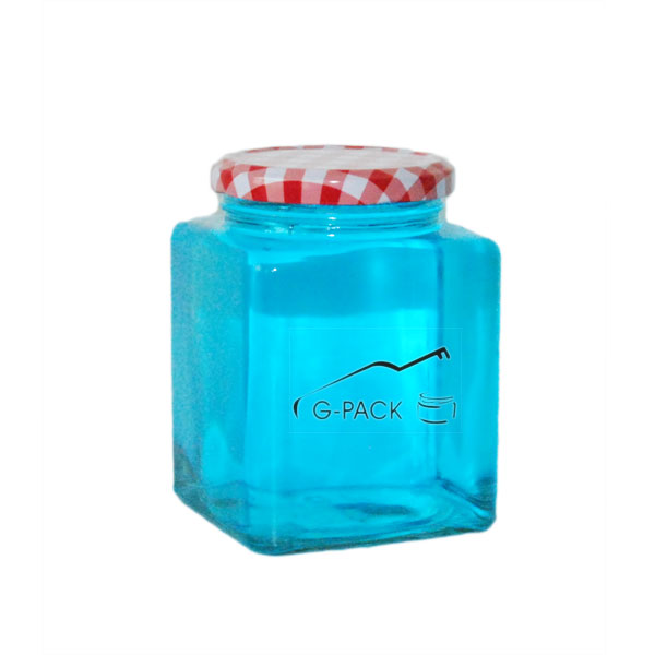 520ml Square Glass Food Jar with Lids