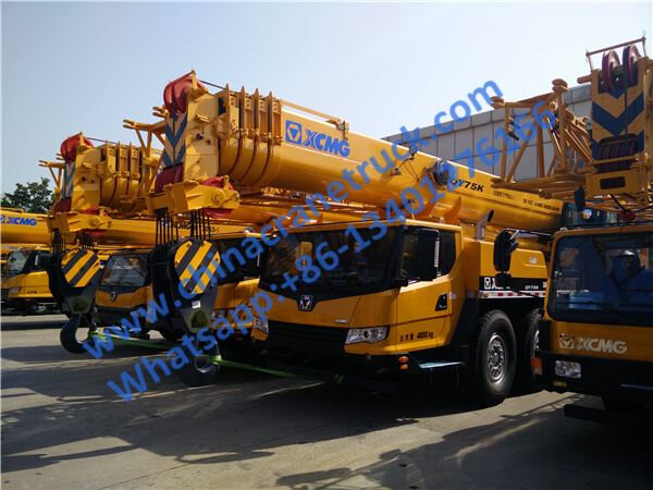 XCMG 75 ton heavy electric hydraulic truck crane QY75K from