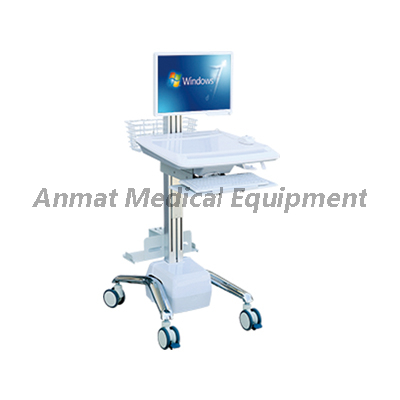 Wireless Nursing Trolley Trolleys , Computer Workstation Cart