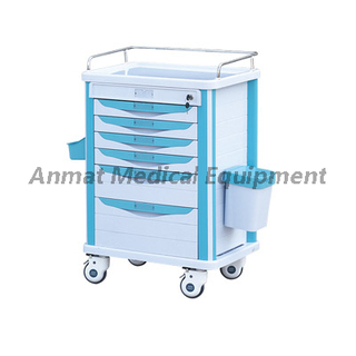 Multi-Purpose Adjustable Mobile Emergency Medicine Trolley