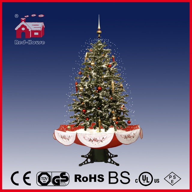 (40110U120-RS) Multicolored Snowing Christmas Tree with LED Lights and Music