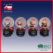 Christmas Decoration Santa Claus Snow Globe Mini Train Decoration