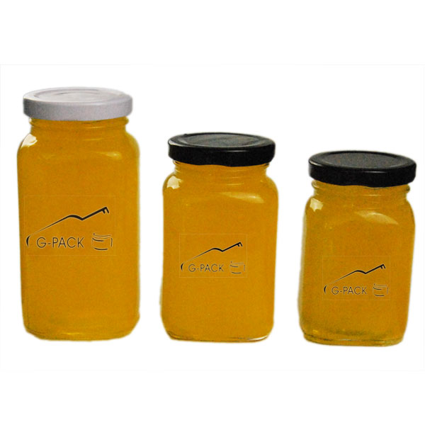 Square Glass Honey Containers