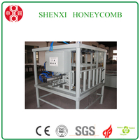 Honeycomb paperboard pallet pressing machine