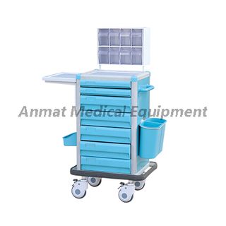 Multi-Purpose adjustable mobile serving general anesthesia trolley