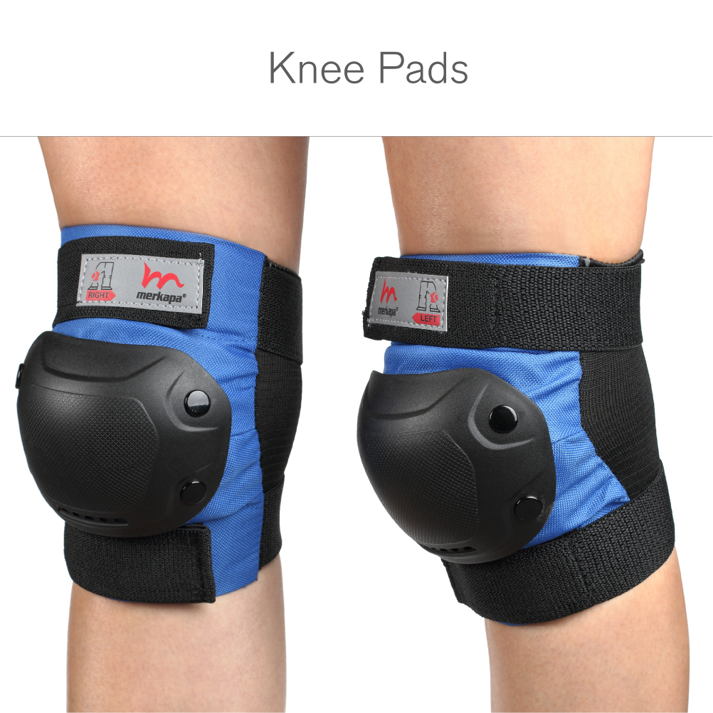 Merkapa Kids Knee Elbow Pads Wrist Guards 3 in 1 Protective Gear Kids