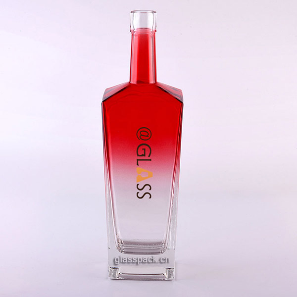 70CL Colored Glass Vodka Bottle