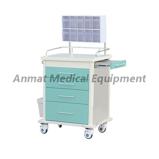High density material plastic steel anesthesia emergency cart