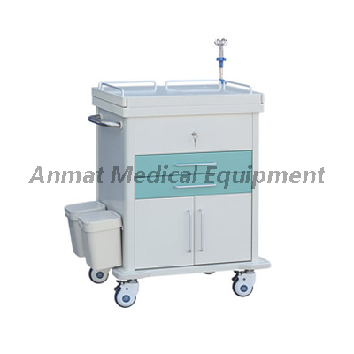 First Aid Emergency Trolley Cart with CPR board