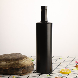 750ml Black Glass Bottle for Spirits