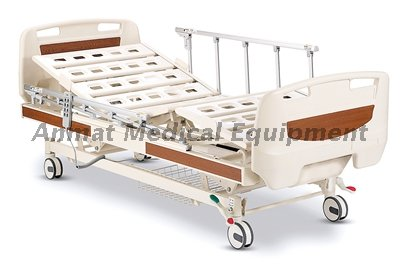 Stainless Steel Side Rail with Basic Three-functions Electric Medical Hospital Bed