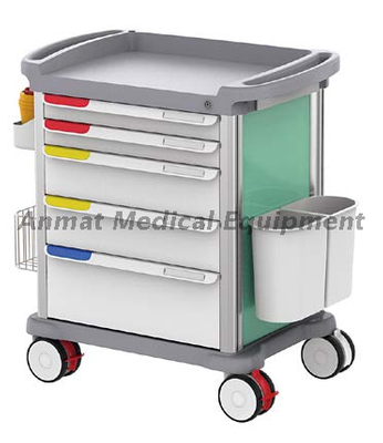Luxurious Abs Medication Nursing Trolley With Treatment Cart