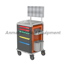 Luxurious Movable Abs Plastic And Metal Clinic Medicine Anesthetic cart