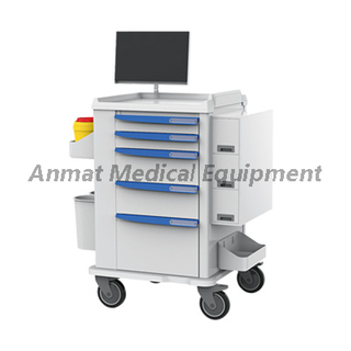 Luxurious Hospital Patient Nursing Workstation Trolley