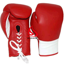 Grant lace up boxing gloves