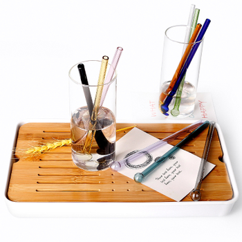 Reusable Borosilicate Glass Straws Amazon Hot Sale