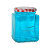 400ml Square Glass Food Jar with Lids