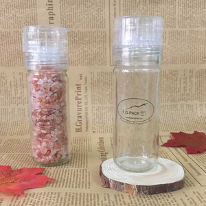 100ml Glass Jar with Salt Mill