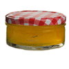 Round Glass Honey Jars with Lids
