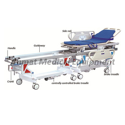 Hospital Equipment for Transfer Patient Operation Connecting Trolley