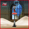 (LV180D-HH) Outdoor Christmas Street Lamp with Falling Snow and Music