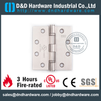 Stainless Steel Grade 304 Full Mortise Fire Rated Door Hinge with UL Certificate for Fire Wooden Door-DDSS002-FR-443