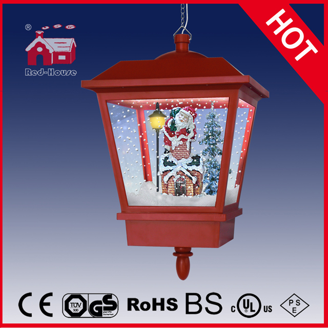 (LH27045-A-R) Painted Colorful Christmas LED Lamp with Snowflakes