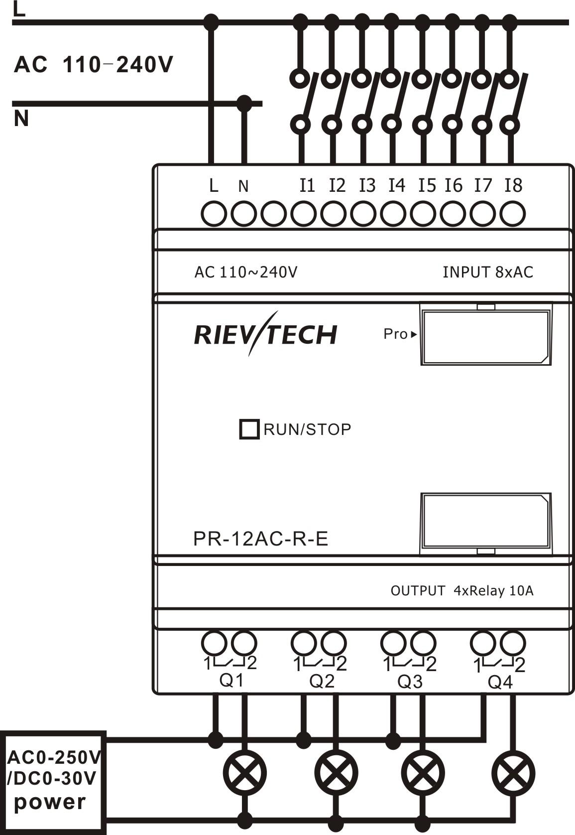 pr 12ac r e buy plc siemens logo mini plc product on rievtech rh rievtech com Simple Wiring Diagrams Simple Wiring Diagrams