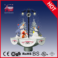 (118030U075-3S-SS) Snowing Christmas Decorations with Umbrella Base