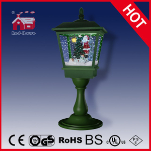 (LT27064B-G) Tabletop Light Green Snowing Lamp 64cm Height with Snow
