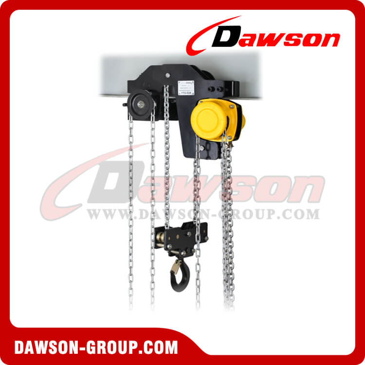 DS-YTG 1T - 10T Low Level Hand Chain Hoist Trolley, Low Headroom Hoist Trolley